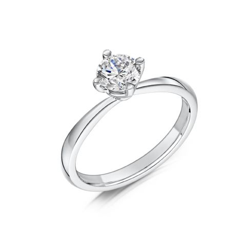 0.33 Carat GIA GVS Diamond solitaire Platinum Round brilliant twist Engagement Ring MPSS-1208/033